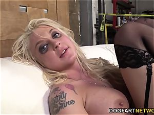 Leya Falcon Gets analed By A strung up black fellow