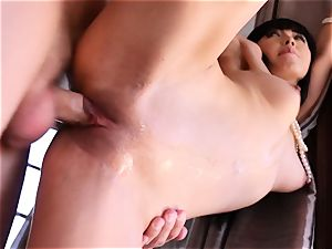 Going nutsack deep into the butt of chinese hottie Marica Hase