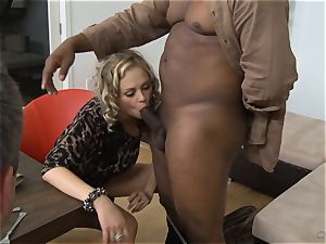 Frustrated wifey Katie Kox gets pulverized on a table in front of her guy