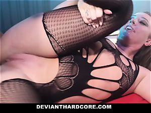 DeviantHardcore - caged superslut Gets dominated By big black cock