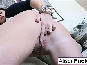 enormous bap Alison fumbles her gigantic orbs