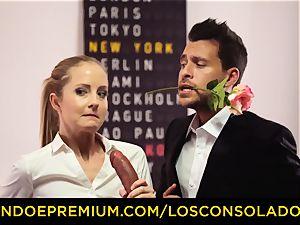 LOS CONSOLADORES - Spicy trio fun with super-hot Tina Kay