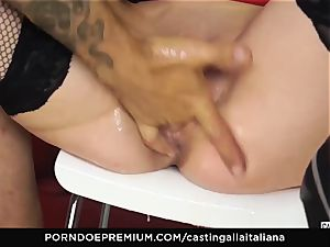 casting ALLA ITALIANA - chesty black-haired luvs wet rectal