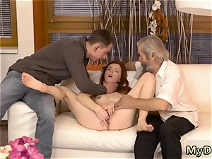 anilingus and fingerblasting dudes booty hard-core unexpected experience with an aged gent