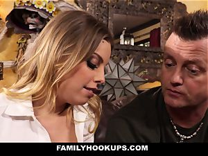 FamilyHookups - super-steamy light-haired Stepmom pulverizes Her Stepson
