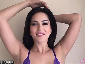 SunnyLeone Sunny Leone in spectacular purple lingerie