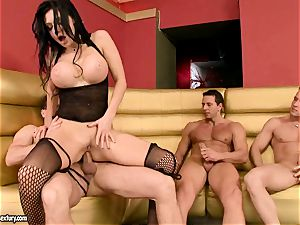 Aletta Ocean gets her taut holes clogged with big meatpoles anxious to spunk