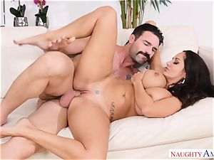 Ava Addams nailed on the sofa