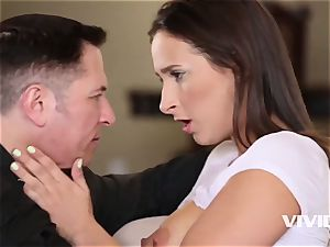 Ashley gets caught all moist and crazy by her step-dad