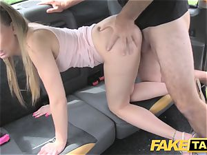 faux cab Skipping college for backseat intercourse in taxi