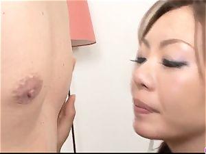 Mio Hiragi enjoys inhaling and penetrating on webcam