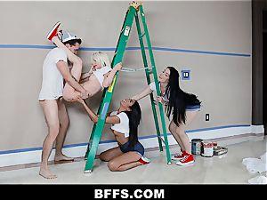 BFFS - Besties boink Handyman Instead of Paying