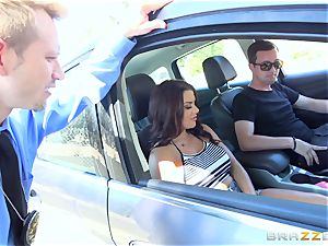 Keisha Grey getting penetrated throughout the car