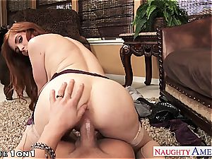 Ginger Penny Pax in pov getting her labia rode