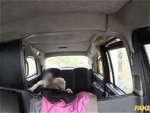 fake cab anal threeway in london taxi