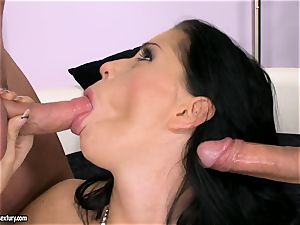 manhood hungering tramp Larissa Dee is blowing one pillar at a time with sheer pleasure