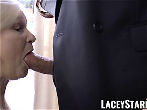LACEYSTARR - horniest granny analled before jizz shot