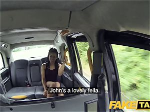 faux taxi fast plowing and internal cumshot for peachy culo