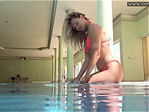 well-known Mary Kalisy is swimming naked for XXXWATER