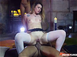cock deepthroating nasty babe Misha Cross hammered