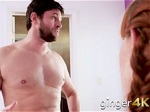 Bearded step-dad romps Alexa�s slit rock hard in different poses