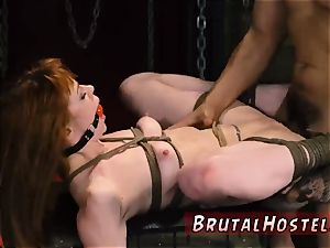 restrain bondage victim sold splendid youthfull nymphs, Alexa Nova and Kendall woods, take a train-ride to