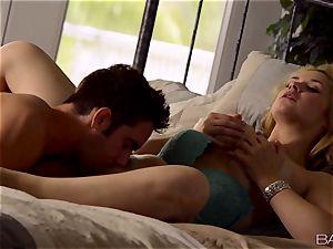 Sarah Vandella lays back and luvs her mans man rod