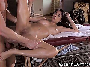 Megan Salinas stripping and getting a facial cumshot