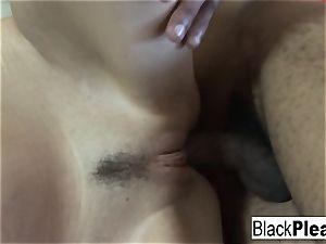 super-sexy Vanessa insane gets nasty with some dark-hued salami