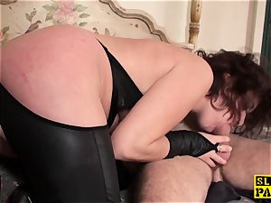 redhead british sub bum-fucked and strapped