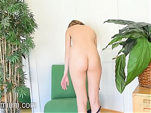 Molly Manson goes ass-up in the chair