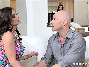 Kendra lust and Peta Jensen share their dude