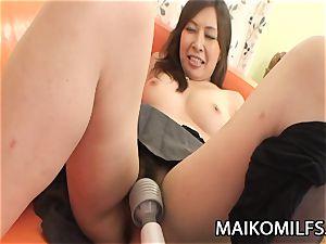 Machiko Nishizaki - kinky JAV wife drilled By A Stranger