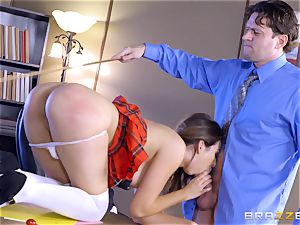 Absolutely spectacular Melissa Moore boned in the pussy at college