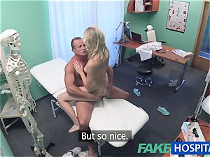 FakeHospital ultra-cute blonde patient gets puss examination