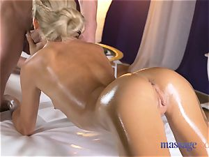 massage rooms sizzling skinny blonde gives point of view fellatio