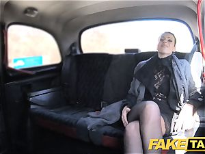 faux cab Czech chick craves a stiff fuck-stick