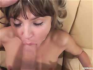 Gina Gerson loves getting her face strewn with cum