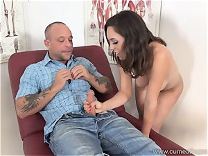 Jade Nile Has Her hubby deep-throat shaft and watch Her