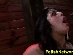 FetishNetwork Mia Li chokes yam-sized knob