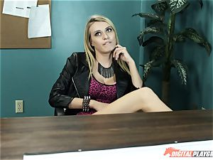 Natalia Starr pounds her prospective manager