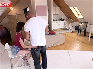 LETSDOEIT - wild Czech teen entices Her camerist