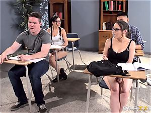 big-chested tutor Ava Addams is humped by her college girl