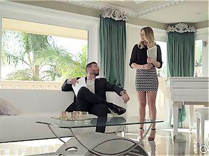 boss ultimately drills her slutty secretary