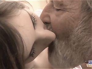 senior giant manhood grandfather humped teenage munch large knob