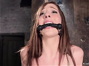 bound up slave vag drilled sack deep